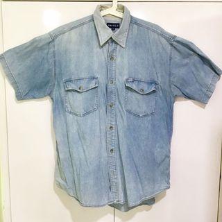Vintage denim short sleeve Shirt