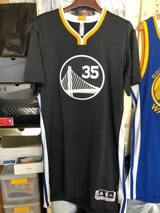 Golden State Warriors Kevin Durant Slate Team Issued Jersey