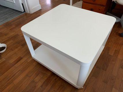 IKEA TINGBY side table with castors 64cm x 64cm