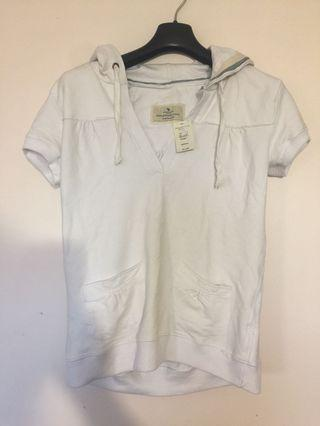 A&F short Sleeve Hooded Top