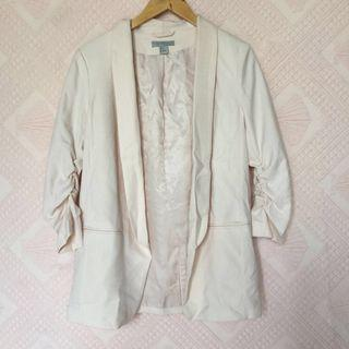 H&M POWDER PINK BLAZER LONG