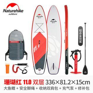 Naturehike 11 Double Layer PVC Inflatable SUP Stand Up Paddle Board Surfboard