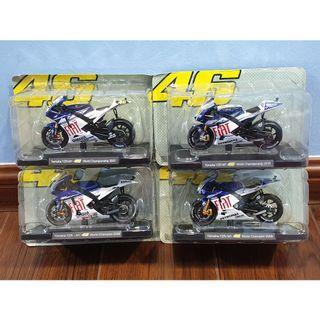 Leo 1:18 Yamaha Fiat 2007 2008 2009 2010 Rossi #46 Motogp Diecast Motor