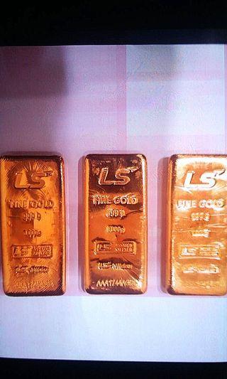 gold bars 999.9
