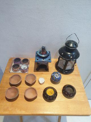 Aromatherapy candle holders