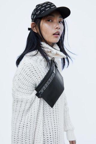 Zara slogan belt bag
