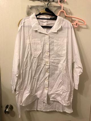 🚚 Pazzo長版白色襯衫 #半價衣服拍賣會