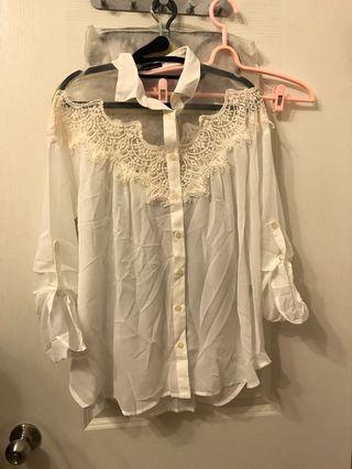 🚚 Pazzo全新蕾絲襯衫洋裝 #半價衣服拍賣會