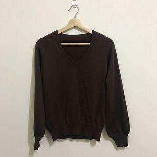 🚚 超親膚柔軟巧克力色針織上衣 #半價衣服拍賣會