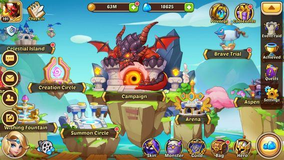 Idle Heroes ID for sales (Android)