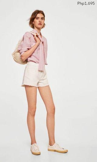 Mango Linen Pink Stripe Blouse / Top