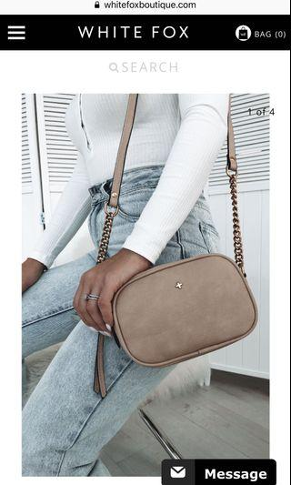 Whitefox boutique nude bag