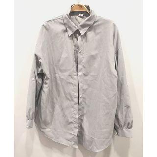 🚚 (全新)灰色寬鬆襯衫外套 #半價衣服拍賣會
