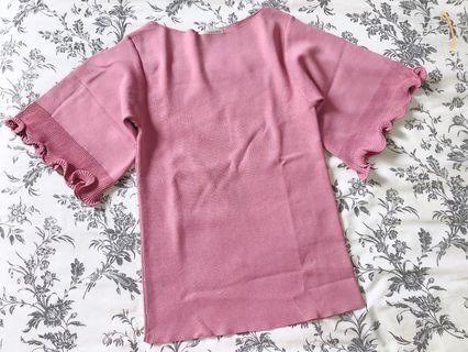 Silk colling knit top-made in Korea