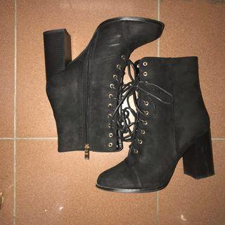 Black Ankle Heel Boots