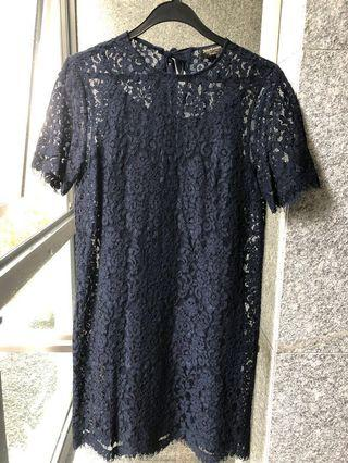 Juicy Couture Navy Blue Lace Dress