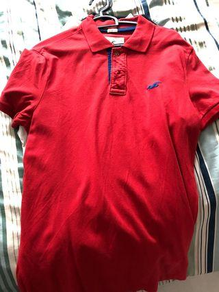 Hollister stretch polo tee