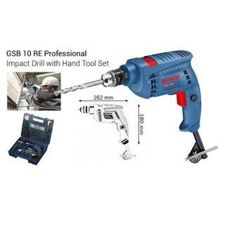 🚚 Bosch GSB 10 RE Impact Drill with 100PC Hand Tool Set (Include a 5.5mm ceramic drill bit)