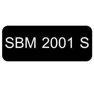 Car Number Plate for Sale: SBM 2001 S