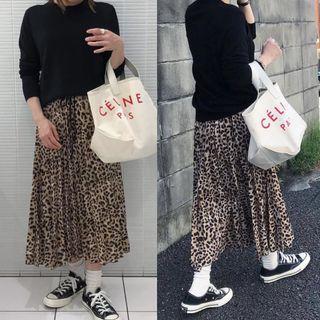 Zara豹紋裙