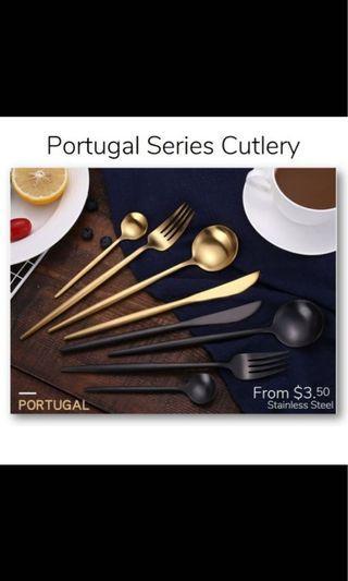 Premium Portugal Cutlery Fork Spoon Knief