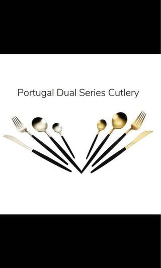Premium Portugal Dual Cutlery Fork Spoon Knife
