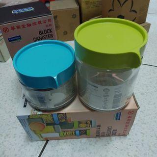 🚚 玻璃積木保鮮罐 韓國製 2入一組 #半價居家拍賣會