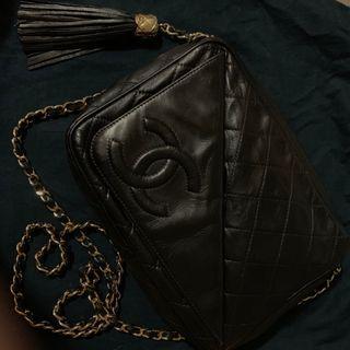 Chanel vintage bag chain shoulder bag 斜咩袋 側咩袋