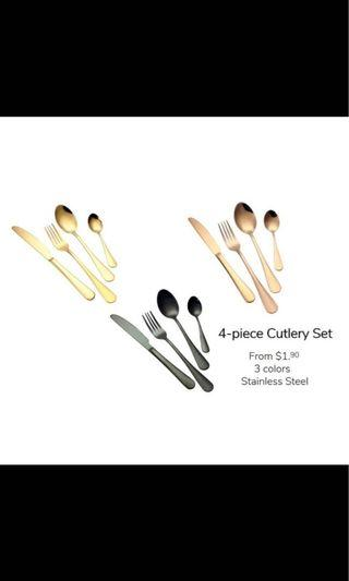 4 pieces Stainless Steel Cutlery