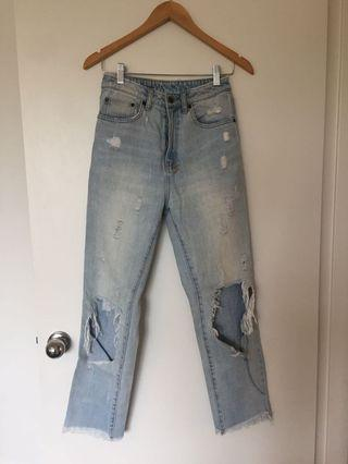 Distressed Ksubi Jeans