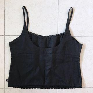 Ralph Lauren Linen Low Back Trim Detail Cami Top