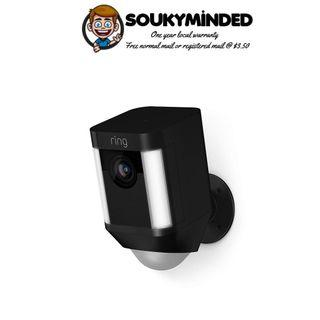 [IN-STOCK] Ring Spotlight Cam Battery HD Security Camera with Built Two-Way Talk and a Siren Alarm, Black, Works with Alexa