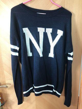 NY New York sweater from pull and bear 薄針織