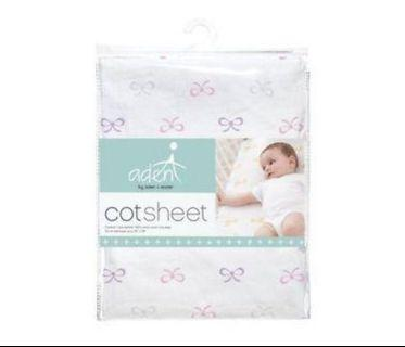 Aden by Aden and Anais lavender cot sheet