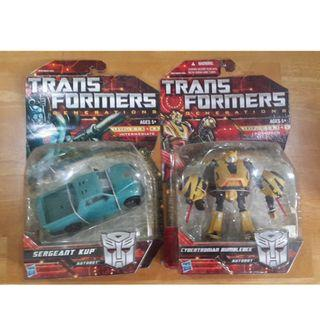 TRANSFORMERS GENERATION DELUXE BUMBLEBEE AND SERGEANT KUP SET OF 2