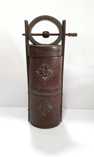 Vintage Bamboo Water Carrier