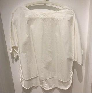 🚚 Uniqlo White Off Shoulder Top