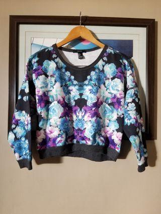 Forever 21 crop printed longsleeve  jacket