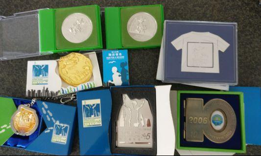 渣打馬拉松記念牌7個