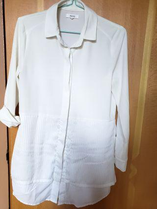 白色layer 雪紡恤衫