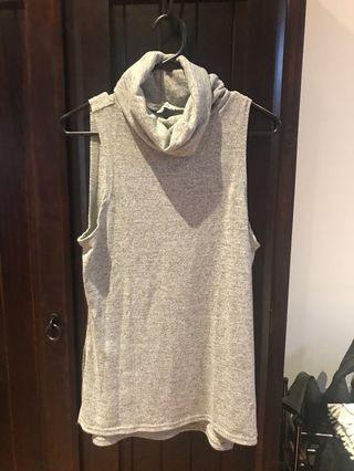 Miss Shop Grey Turtle Neck Top Size 8