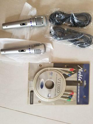 Noble Video cable + 步步高 卡拉ok microphone