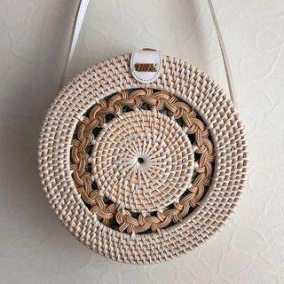 🚚 Rattan Bag - The White Braid