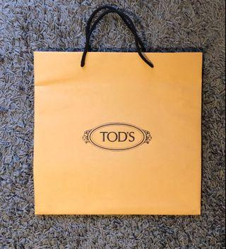 Tod's paper shopping bag
