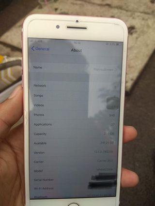 Iphone 7plus 256 rosegold