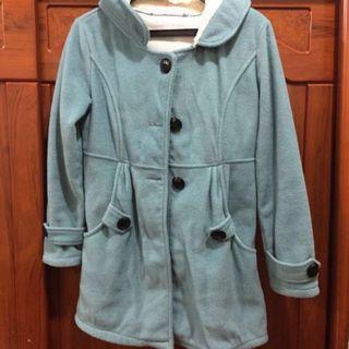 🚚 🎃二手🎃MIUSTAR藍綠色中長版鋪棉外套‼️ #半價衣服拍賣會