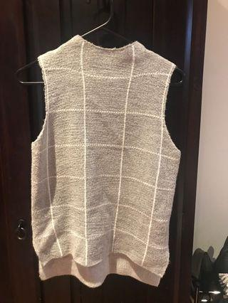Valleygirl Grey Check Top Size S
