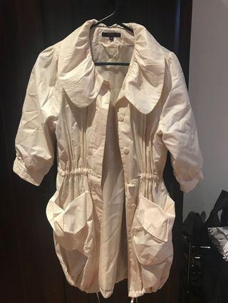 Grab Denim Cream Shimmer Jacket