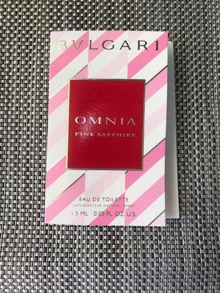 Bvlgari Omnia Pink Sapphire香水sample 1.5ml