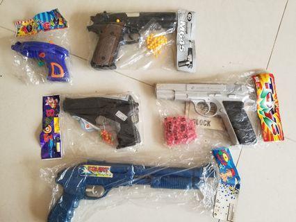 兒童BB彈經典玩具槍5枝 $40